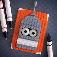 """LEGO Brick """"Sketches"""" of Your Favorite Pop Culture Icons"""