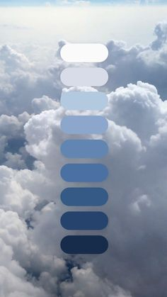 Clouds from a plane window. The view of the clouds from a plane window, footage video Color Schemes Colour Palettes, Nature Color Palette, Blue Colour Palette, Pantone Color, Pantone Blue, Color Combinations For Clothes, White Clouds, Colour Board, Color Theory