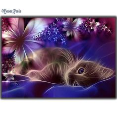 Flower Cat - Easy DIY Diamond Painting Kits