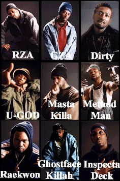 10. African Music Music Group 90's or earlier - Wu-Tang Clan - The Wu-Tang Clan is an American East Coast hip hop group from Staten Island, New York that consists of rappers RZA, GZA, Method Man, Raekwon, Ghostface Killah, Inspectah Deck, U-God, Masta Killa, and the late Ol' Dirty Bastard.