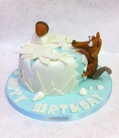 Aaah Scrat - Ice Age Cake  Cake by Happy_Food