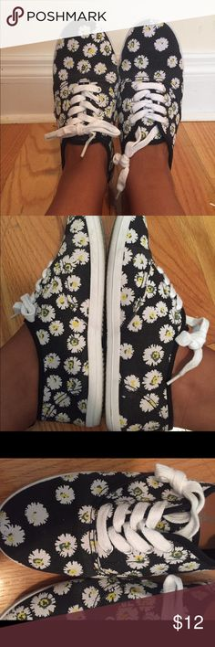 Sunflower Lace Up Shoes PERFECT SUMMER SHOE ALERT! These never before worn sunflower shoes are the perfect summer shoe to wear with anything! WORN ONCE. Size 8, but fits like an 8.5 (my normal shoe size). Shoes