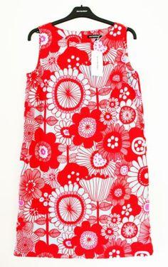 Marimekko Finland Siirtolapuutarha Truba Marketta dress, size 38 (M)