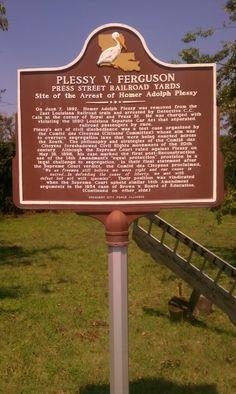 Site where Plessy v Ferguson began