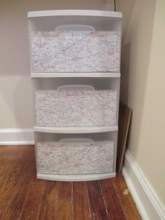Quick update of cheap plastic drawers