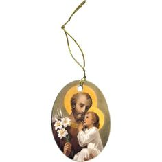 St. Joseph with Child Jesus Ornament, 12.95.