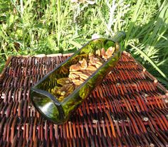 Recycled Wine Bottle Serving Tray GREEN by ConversationGlass, $25.00