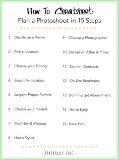 How-To Plan a Photoshoot in 15 Steps: | Peachfully Chic