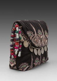 black ethnic hippie clutch: