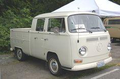 100% Stock Volkswagen Bay Window Crew Cab Pickup Truck in L87 Pearl White