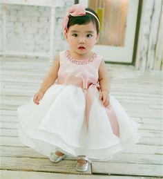 Novo Infantil Baby Girl Vestido Do Batismo do Baptismo Vestido Pageant Vestido…