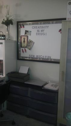 Computer Station & Inspiration Board