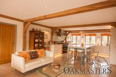 Double storey oak framed extension adds character and space to a renovated country house Furniture, Timber, House, House Extensions, Home, Contemporary, Oak Framed Extensions, Oak, Frame