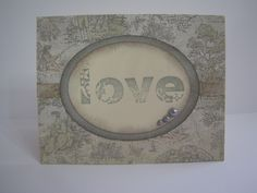 Valentine Card Using CTMH Acrylic Stamps