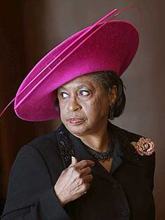 You already know she's the MOTHER of the Church.  Get out of line and you will get checked but the hat won't come off!