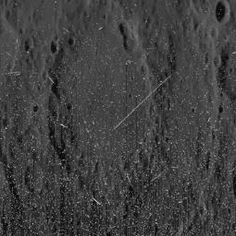 Speckled Mercury. The streaks are energetic particles from the recent solar storm hitting the camera's CCD. Image taken by the MESSENGER spacecraft.