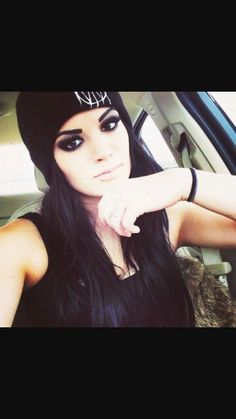Paige from wwe, nice makeup.