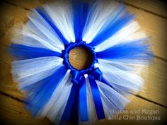 Royal Blue and White Tutu by AlyssaandMegan on Etsy, $25.00