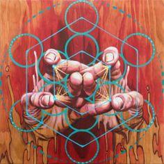 "Miles Toland Arts / ""Element Handala""/  Sacred Geometry"