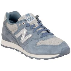New Balance Women's 696 Capsule Collection Sneaker (1.156.935 IDR) ❤ liked on Polyvore featuring shoes, sneakers, grey, new balance shoes, lace up shoes, new balance trainers, herringbone shoes and new balance footwear
