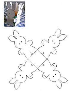 Pin by fr mims on hoppin down the bunny trail pinterest amor por el arte cajas moos y envolturas box templatesgift boxespaper cakefevereiroprintable boxvintage easterorigamibunnyoriental negle Images