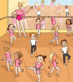 : et Nina. Ballet Kids, Ballet School, Play School Toys, Picture Comprehension, Daily Vocabulary, Dance Images, Preschool Learning Activities, Picture Story, Illustration