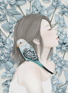 【艺术】韩国Choi Mi Kyung 清新浪漫的插画作品欣赏