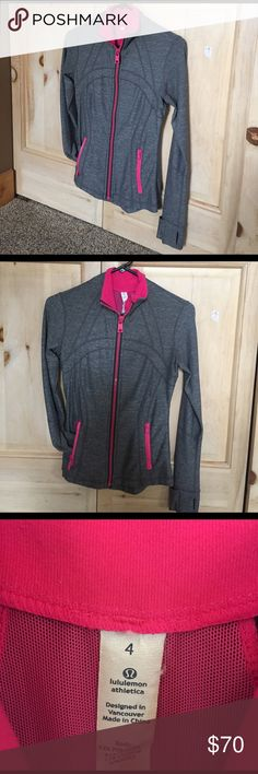 Lululemon define jacket Great condition! Just a tiny bit of pink paint chipping from zipper, otherwise cute and soft!! lululemon athletica Tops Sweatshirts & Hoodies