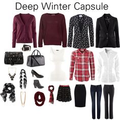 """Deep Winter Capsule"" by katestevens on Polyvore"