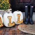 http://www.karaspartyideas.com/2015/09/diy-marquee-light-letter-pumpkins.html