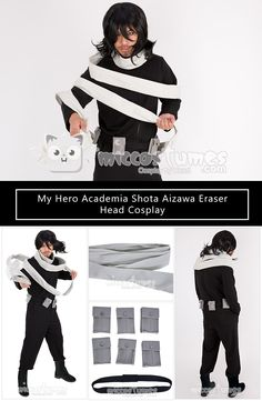 My Hero Academia Eraser Head Shota Aizawa Cosplay Costume Jumpsuit Outfit