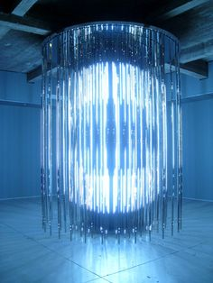 Leo Villareal installation,  How interesting, Would make an excellent design for a hyrdation station or Mermaid chamber,