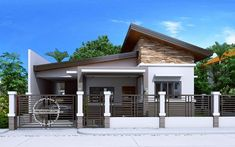 Modern bungalow house design bungalow house plans without garage also bungalow house plans with granny suite Modern Bungalow House Design, House Roof Design, Modern House Floor Plans, Modern Small House Design, Small House Interior Design, Small House Plans, Small Bungalow, Philippines House Design, Small Beach Houses