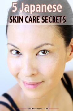 5 Easy to Follow Japanese Skin Care Secrets. Improve the look of your skin by following these quick and easy steps Japanese women swear by. #SkinCareRoutineFor20S