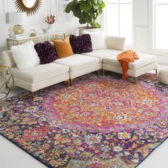 area rugs in living room colorful teppiche im wohnzimmer bunt area rugs in living room colorful # Dining area rugs - area rugs Modern - area rugs Rustic Colourful Living Room, Boho Living Room, Bohemian Living, Living Room Decor, Moroccan Decor Living Room, Bohemian Rug, Bohemian Style, Orange Living Room Sofas, Colorful Rugs