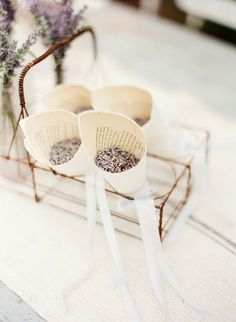 Lavender confetti cones #French #Country #Wedding …