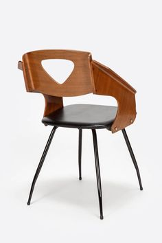 Set of Six Carlo Ratti Chairs for Legni Curva Lissone, 1950 6
