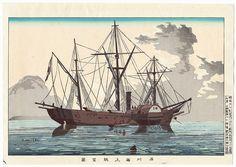 Sea at Shinagawa by Kiyochika (1847 - 1915)