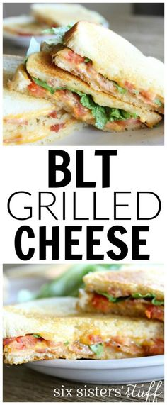 BLT Grilled Cheese sandwich from @sixsistersstuff