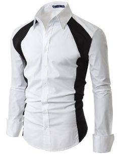Doublju Mens Dress Shirt with Contrast Side Pannel WHITE (US-S) Doublju,http://www.amazon.com/dp/B006WFG6YQ/ref=cm_sw_r_pi_dp_X9pktb15PY005P83
