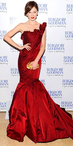 One of the great tragedies of our lives is that we have nowhere to wear a beautiful gown like this one, on Coco Rocha.