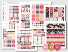 Free Monthly Printable Planner Stickers There are over 100 monthly kits! Each kit has 8 pages. Amazing!