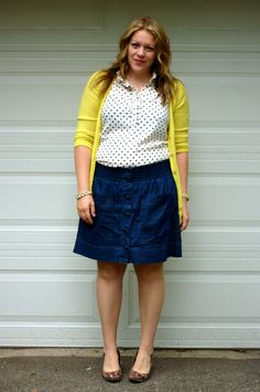 yellow with polka dots