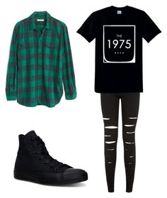 """Untitled #23"" by emo-skinny-jeans ❤ liked on Polyvore featuring New Look, Madewell and Converse"
