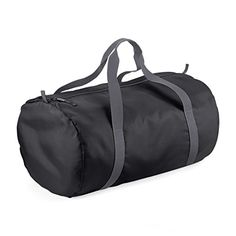BagBase Packaway Barrel Bag  Duffel Water Resistant Travel Bag 32 Liters One Size Black *** See this great product. (Note:Amazon affiliate link)