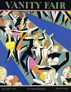 Magazine cover deco dance couples , 1927.