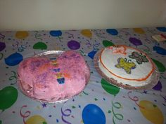 Gabby's 1st Birthday Butterfly cakes