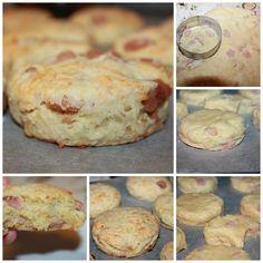 Scones med Ost og Skinke – Spiselise Second Breakfast, Recipe Boards, Lchf, Scones, Granola, Quiche, Nom Nom, Side Dishes, Recipies