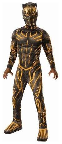 Cosplay Kostüm Avengers Jumpsuit Kinder Herren Superheld Black Panther
