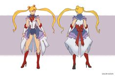 Sailor Moon redesign project I did to pay tribute to this memorable show.